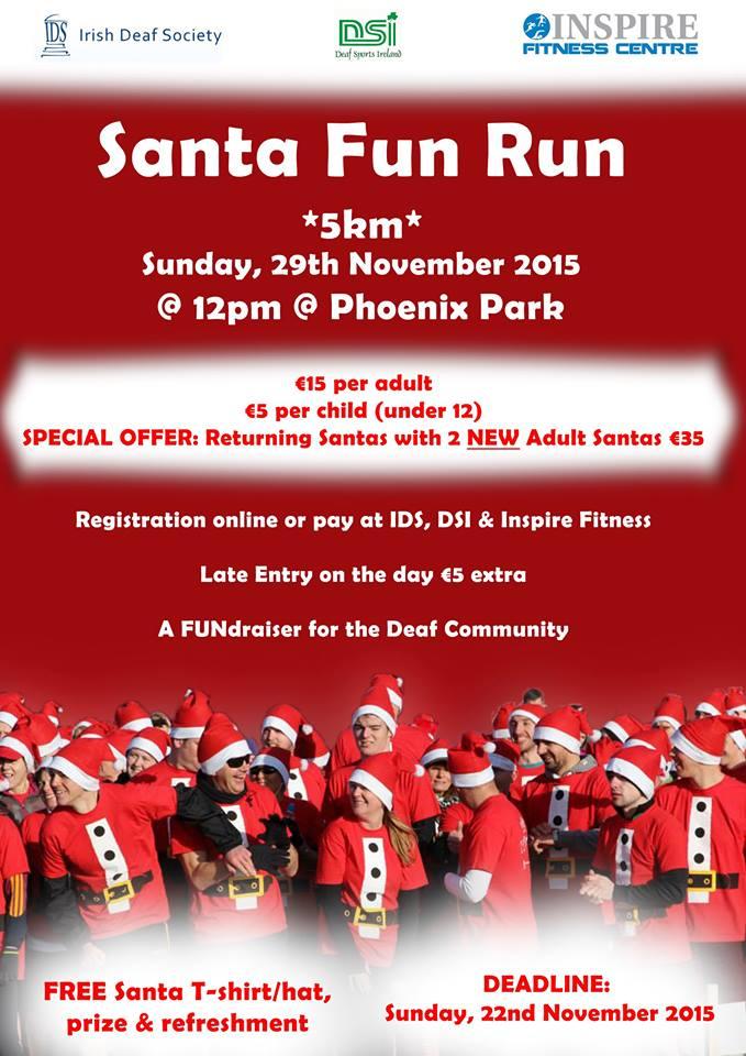 santa fun run for deaf