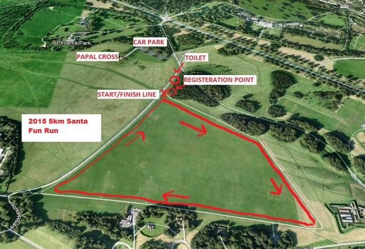 santa fun run map